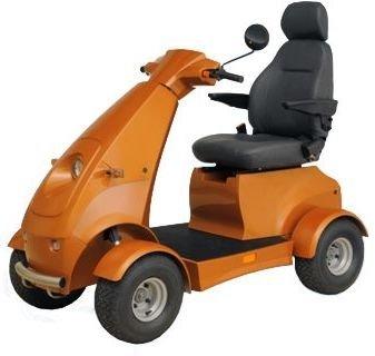 (Golden Technologies - Buzzaround XLHD - Travel Scooter - 4-wheel - Red)