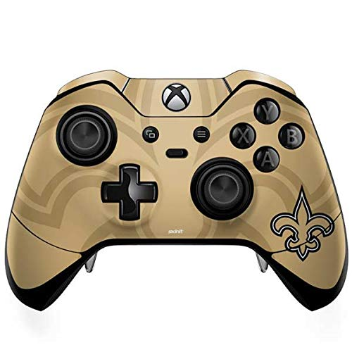 Orleans Saints Controller New (Skinit New Orleans Saints Double Vision Xbox One Elite Controller Skin - Officially Licensed NFL Gaming Decal - Ultra Thin, Lightweight Vinyl Decal Protection)