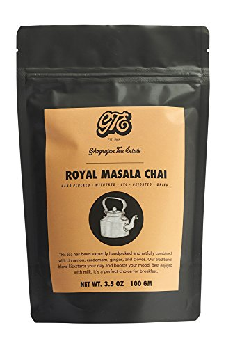 Chai Tea Loose Leaf (50+ Cups) - Finest Assam CTC Blended with Organic Cardamom, Ginger, Cloves and Cinnamon - Shipped Directly from Our 5th Generation Tea Estate in India - 3.5 oz Sealable Pouch