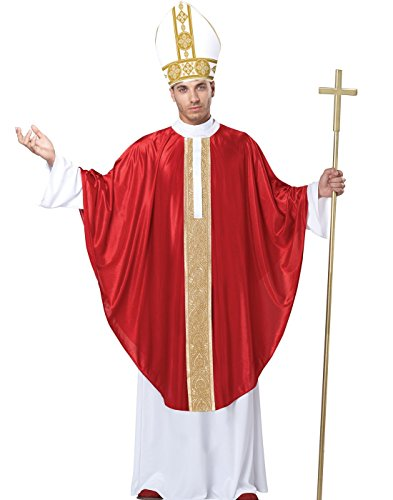 California Costumes Men's The Pope His Divine Holiness, Red/White, Large/X-Large