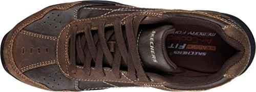 Scarpa da ginnastica Havas da uomo Skechers, marrone scuro