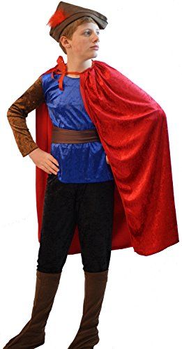 Pantomime Characters Costumes (World Book Day-Character-Sleeping Beauty-Pantomine PRINCE PHILLIP Fancy Dress Costume - All Ages (AGE 5-6))