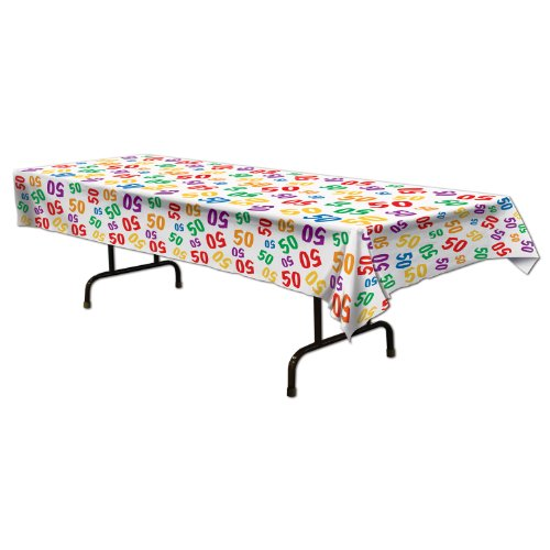 """Beistle """"50"""" Tablecover, 54 in. x 108 in."""