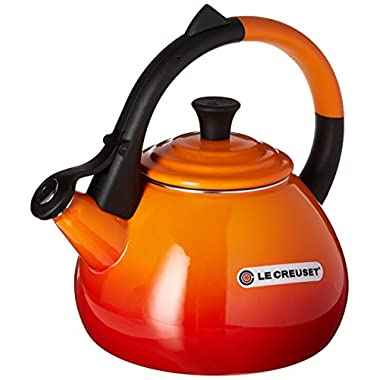 Le Creuset Enameled Steel 1.6 Quart Oolong Tea Kettle, Flame