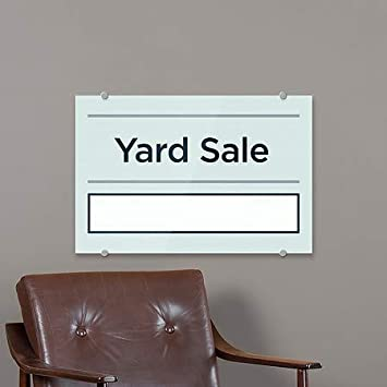 36x24 CGSignLab Yard Sale Basic Teal Premium Acrylic Sign