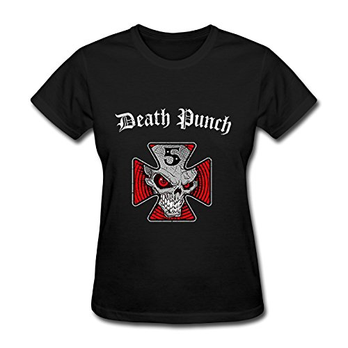 - Best Black T Shirt For Women Metal Band Five Finger Death Punch Tour 2016.png