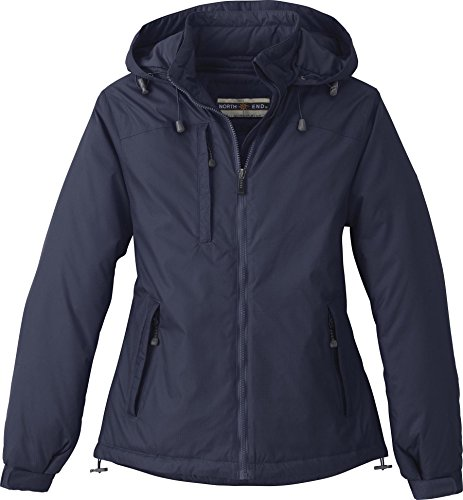 Loft Womens Jacket (North End Womens Hi-Loft Insulated Water Resistant Jacket Coat,Navy,Large)