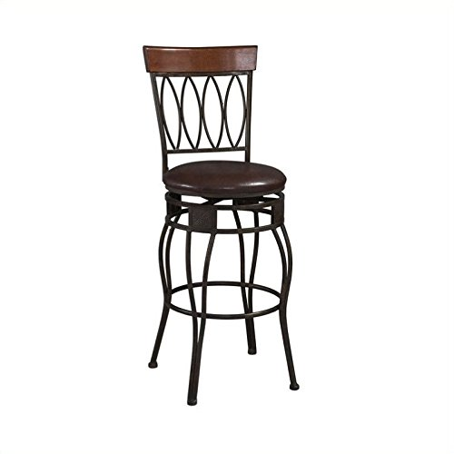 - OKSLO Four oval back bar stool, brown, 30 inch seat height