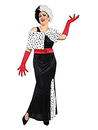 Officially Licensed Disney Villains Cruella De Vil fancy dress Ladies Size  12-14 Costume with ed032f17a