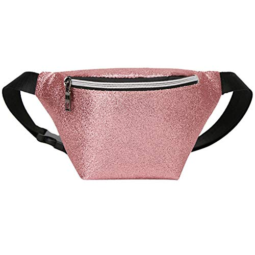 (ChainSee Unisex Shoulder Waist Bag, Fashion Lady Shoulders Sequin Small Square Bag Letter Purse Mobile Phone Messenger Bag)