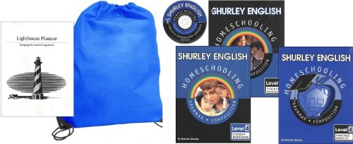 Shurley English Grade 4 Set with Practice Book Homeschool Kit in a Bag