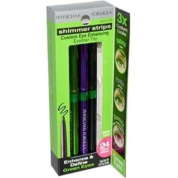 Physicians Formula Green Eyes Shimmer Strips Custom Eye Enhancing Trio Eyeliner — 2 per case.