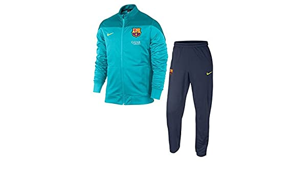 Chándal FC Barcelona Entreno Turquesa -Junior- 2013-14: Amazon.es ...