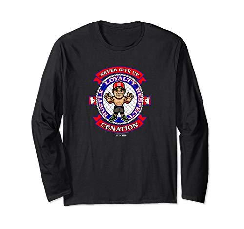 WWE Nerds Clothing John Cena Cenation Long Sleeve T-Shirt (John Cena And Undertaker Vs Kane And Nexus)