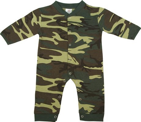 - Rothco Infant Long Sleeve One Piece, Woodland, 42069