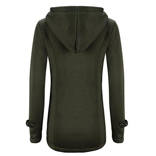 Verde Giacca Lunghe WanYang Cappotto Camicia Maniche Maglione lana Casual invernale Cappotto blended Donna di wZqBT6O