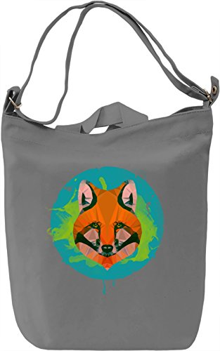 Orange Fox Borsa Giornaliera Canvas Canvas Day Bag| 100% Premium Cotton Canvas| DTG Printing|