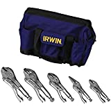 IRWIN Tools VISE-GRIP Original Locking Pliers Kit Bag Set, 5-Piece (2077704)