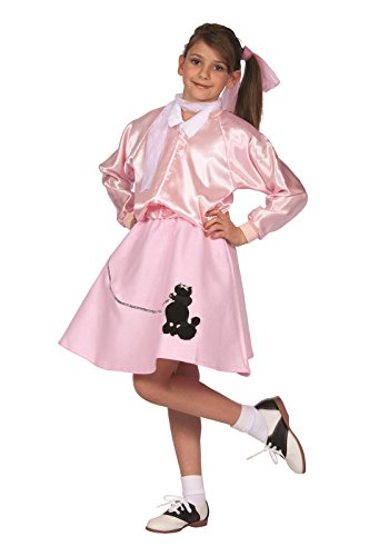 RG Costumes Pink Poodle Skirt, Child Medium/Size 8-10 - 50s Girl Costumes