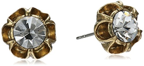 1928 Jewelry Gold-Tone Crystal Post Stud Earrings