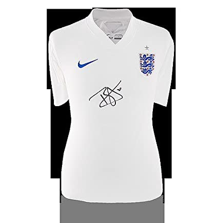 the latest 08c6b b22ec Dele Alli Front Autographed Signed England 2014-15 Home ...