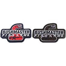 2pcs Bushmaster Firearms 3D AIRSOFT MILITARY TACTICAL VELCRO PATCH