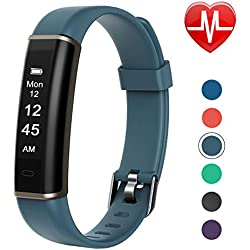 Letsfit Fitness Tracker with Heart Rate Monitor, Pedometer Watch, Waterproof Smart Watch Activity Tracker with Step Counter, Sleep Monitor, Step Tracker for Kids Women and Men (Gray)