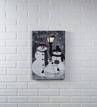Winter Welcome new Snowman Wall Print