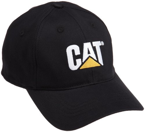 Caterpillar Men's Cat Trademark Stretch Fit Cap, Black, (Stretch Fit Baseball Cap)