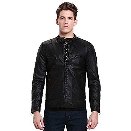 Young Men S Leather Jacket Amazon Com