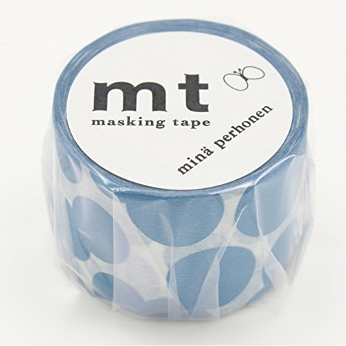 Kamoikakoshi masking tape mt Mina perhonen soda water · blue 35mm × 10m MTMINA30
