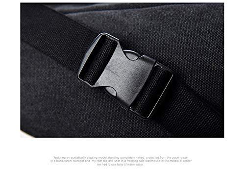 Negro Lona Senderismo Black Marrón Bum Fanny Beige Bolsa Pack Viaje color El Houyazhan Cintura Bolso Para Cuello Monedero Hip Khaki De wS4qXnx