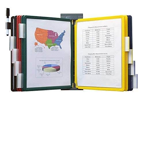 - Ultimate Office DocuMate 10-Pocket Wall Reference Organizer with Assorted Color Easy-Load Pockets, Steel-Reinforced Pins, and Free Bonus Panel