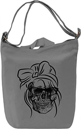 Skull chic Borsa Giornaliera Canvas Canvas Day Bag| 100% Premium Cotton Canvas| DTG Printing|