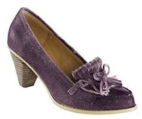 Best Connections Pumps - Zapatos de vestir de cuero para mujer, color marrón, talla 41