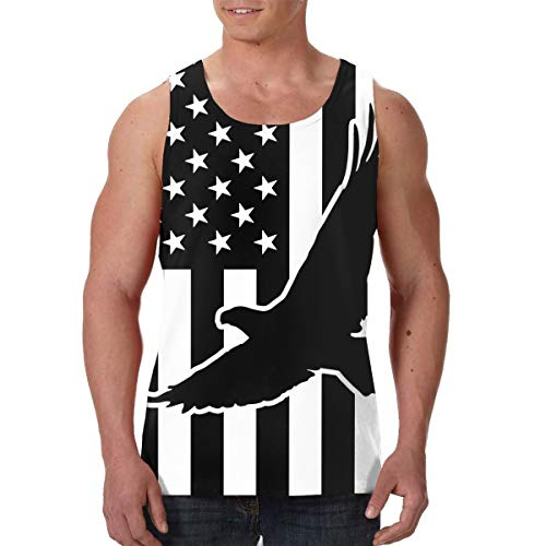 Men's Tank Top American Flag Eagle Custom Workout Vest Sleeveless Shirts