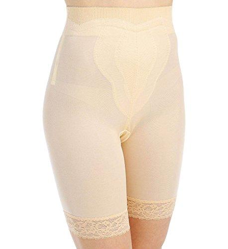 Rago High Waist Long Leg Girdle Panty (6226) 2X/Beige