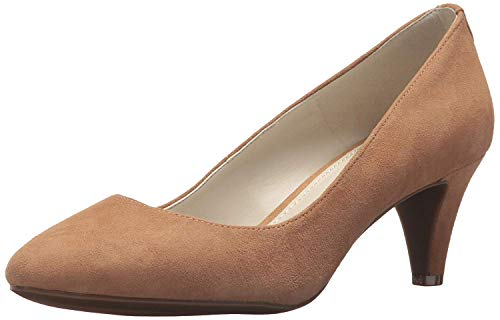 Anne Klein Women's Rosalie Pump, Natural Suede, 6.5 M US