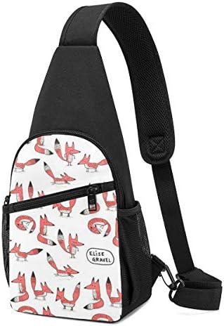 ボディ肩掛け 斜め掛け かわいい狐 ショルダーバッグ ワンショルダーバッグ メンズ 軽量 大容量 多機能レジャーバックパック