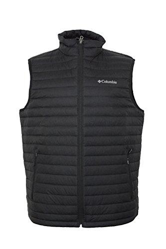 Columbia Men's Oaks Apex Omni-Heat Down Vest-Black-2XL