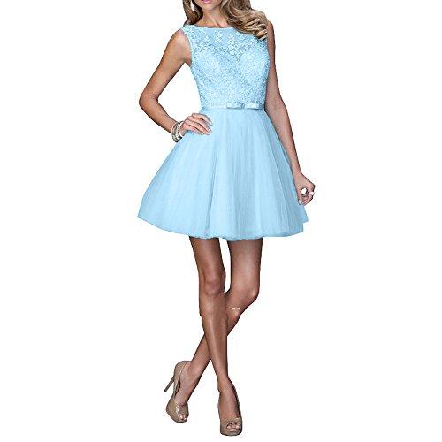 La Jugendweihe Mini Partykleider Kurzes Ballkleider Himmel Brau mit Kleider Linie Neu Spitze Cocktailkleider Blau A mia Abendkleider zt4qrtSw