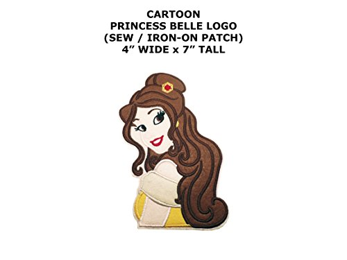 Princess Belle Cartoon DIY Embroidered Sew or Iron-on Applique Patch Outlander (Sew A Belle Costume)