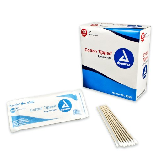 Applicators Non Sterile - Dynarex Cotton Tipped Wood Applicators Non-sterile 6