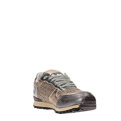 Y NOT? Damen Sneaker Mehrfarbig Multicolore, Mehrfarbig - Bronzo - Größe: 38