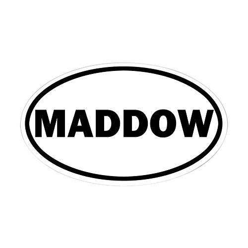 CafePress Rachel Maddow Oval Bumper Sticker, Euro Oval Car Decal