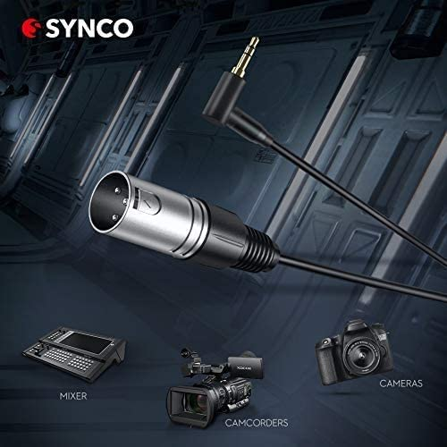 Shotgun Microphone Professional Video//Audio Recording Suitable for DSLR Camera,Camcorders SYNCO MIC-D1 Multi Powered Hyper Cardioid Condenser Audio Mic with Brass Tube High-Pass Filter XLR Connector