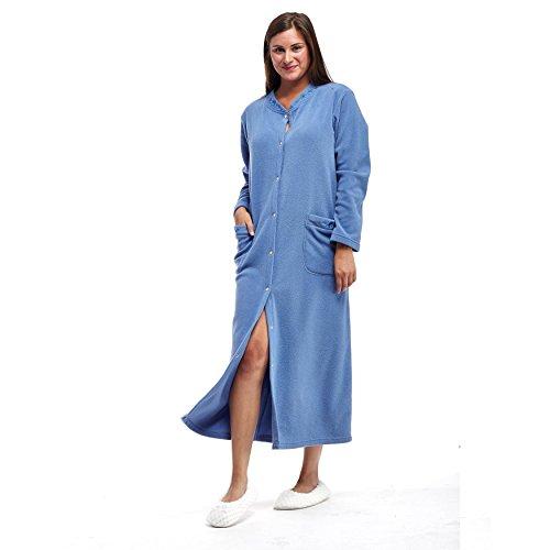 La Cera Women's Snap Front Robe