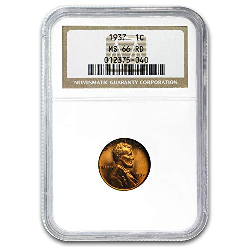 1937 Lincoln Cent MS-66 NGC (Red) Cent MS-66 NGC
