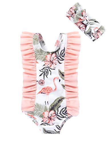 Newborn Baby Girl Two Piece Swimsuit Elegant