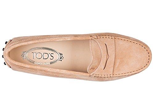 Tod's mocassins femme en daim gommini rose